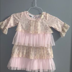 Pink and gold tulle dress girls 4 toddler